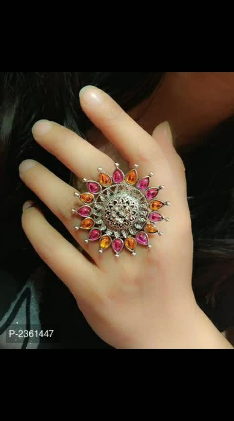 #Sameera Desginers # rings 💍💍💍🤟🏻🤟🏻🤟🏻🤟🏻 # Oxidised Trendy Rings  *Style*: Stone  *Circumference*: 1.0 (in inches)  *Free shipping....cod available  *Delivery*: Within 6-8 business days   https://myshopprime.com/collections/20354067