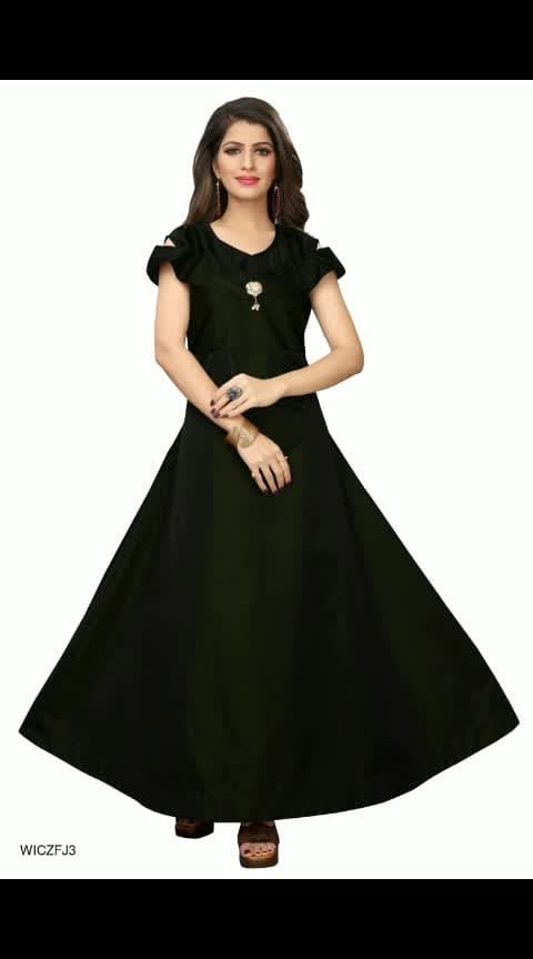 Attractive Designer Women Gown Vol-2  Fabric : Taffeta Silk  Sleeves : Sleeves Are Included  Bust/Chest Size : Up To 36 in To 44 in (Free Size)  Length : Up To 54 in  Type : Semi-Stitched  Description : It Has 1 Piece Of Gown  Work/Pattern : Solid  https://dreamjourney.wooplr.com/s/E8KhRYBo9?ref=cp.c.i.ic.a.en