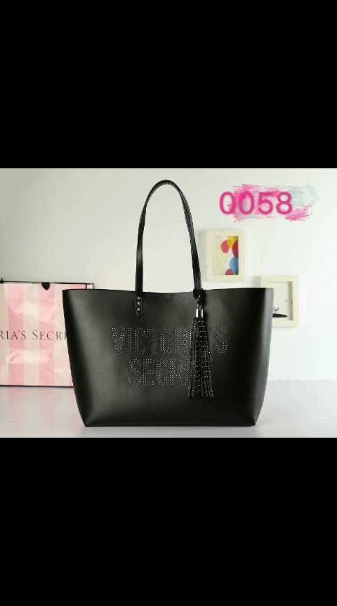 VICTORIA SECRET STUDDED WRITTEN VS INITIALS TOTE BACK IN STOCKS   SIZE 16/12   PRICE 1750/- ONLY Shipextra