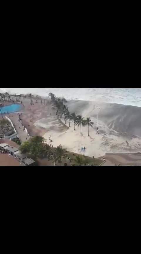 Durban beach closed due to high waves...sandy sandy
