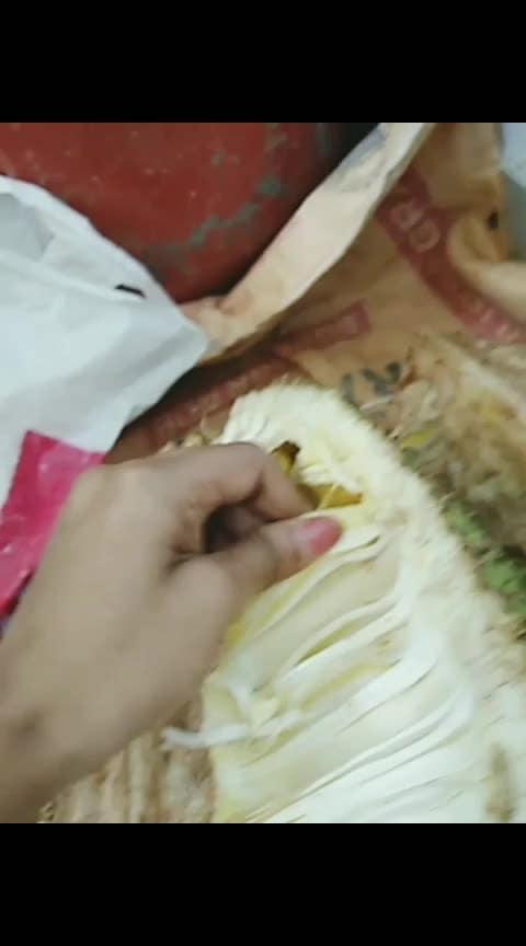 തലേ ദിവസം വെട്ടി വെച്ച മൂത്ത ചക്ക 🍐🍐#risingstar #roposostar #roposo-food #jackfruit