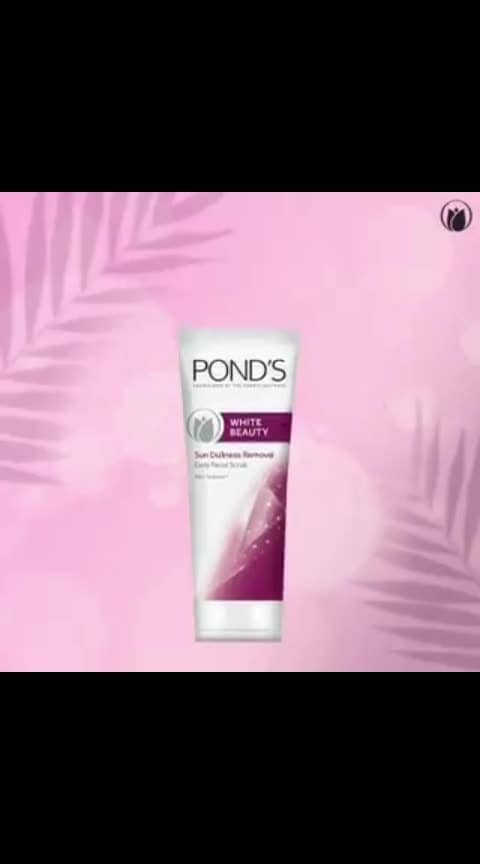 Sunlight killing your vibe? Pamper your skin with the Pond's Sun Dullness Removal Scrub that removes dark spots and dullness and leaves your skin flawless throughout!  #Ponds #PondsIndia #Skincare #Beauty #FaceScrub