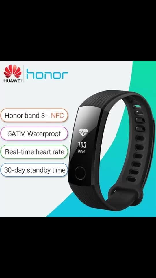 *HONOR SMART BAND 3* 👌🏻  *Model* NYX-B10  *Colors* Black, Navy Blue  0.96'' Large OLED Multi-Touch Screen  *Battery* Up to 7 Days Battery Life in 1.5 Hours Magnetic Charge  *Bluetooth 4.2* - Compatible with mainstream Android & iOS Devices  - Keep offline records of workout data during the last 7 days if not connected to any devices  *Device Requirements:* Android 4.4 or higher, iOS 8.0 or higher, or devices that support Bluetooth 4.2  *Call & Message Reminder* - Reminds of all calls to your phone - Can only view the last 5 messages  *Continuous Heart Rate Monitoring, RealTime Fitness Tracking* - Track fitness intensity in real-time with continuous heart rate monitoring  - Fast heart rate reminding  *Don't Miss a Beat* Measure your heart rate with greater accuracy thanks to M4 core technology, supporting floating-point operations with an optimized algorithm for 10 different fitness scenarios.  *Ready to Swim* Always up for a swim, with water resistance up to 50 meters. Custom swimming mode tracks swim times, calories burned, and more.  *Display Workout* - Display workout data in real-time to increase workout performance  *Improve Sleep Quality* - Sleep Monitoring: Accurate sleep stages (light / deep / awake) monitoring together with heart rate tracking  - Smart Alarm Clock: Wake up happier and more refreshed  *Daily Sweat & Water Proof* Your trusted companion in daily life, no need to remove it when washing your hands or even taking a shower.  *# OFFER PRICE: Rs1900/- only* 🤩😍  Free Shipping 👍🏻🥳 #hyderabad #hyderabadi #hyderabad_ #hyd #hyderabad_hunks #pA a,hyderabadi #hyderabadfoodie #hyderabad_ #hyderabadis #hyderabad_hunks #designersareeshyderabad #hyderbadi #sareehyderabad #sareehyderabad #hyderabadi #sunrisershyderabad #hyderabadfashionbloggery #hyderabaddiaries #hyderabadshopping #hydrocephalus #beautifuldestinations #beauty #p #locstyles #mensfashion #mens #mensstyle #menfashion #fashionnova #fashion #fashionblogger #onlineshopping