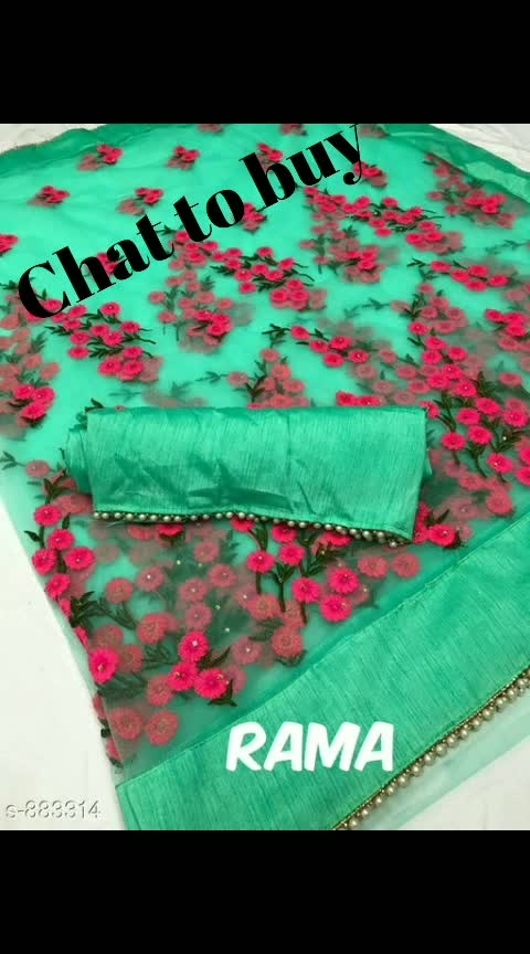 Embroidered Partywear Net Sarees Vol 1(Replica)  Note: Products From This Catalog Are Replica And Could Have Quality Issues  Fabric: Saree - Net, Blouse - Banglori Silk  Size: Saree - 5.5 Mtr, Blouse - 0.8 Mtr  Work : Embroidery Thread Work With Stone  Dispatch: 4 - 5 Days