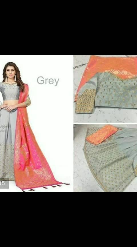 #love for lehengas#sameera Desginers # Art Silk Embroidered Lehengas  *Fabric*: Art Silk  *Type*: Semi Stitched  *Waist*: 26.0 - 34.0 (in inches)  *Bust*: 34.0 - 40.0 (in inches)  *Delivery*: Within 6-8 business days  *Free shipping  & Easy Returns