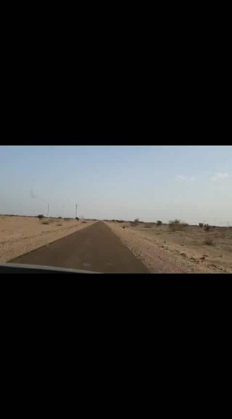 Road trip !!  hyperlapse of the road trip in desert ❤ #travelblogger #Happyfravelling #travelgram #TravelFreaks #roadtrip #desert #jaisalmerdiaries #jaisalmer