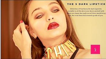 TOP 5 DARK LIPSTICKS FOR ALL THE SKINTONES   LOREAL   KYLIE   SEPHORA #lipsticks #dark