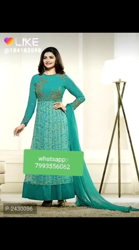 #fashion  Floor Length Georgette Gowns  *Fabric*: Georgette  *Type*: Semi-Stitched  *Bust*: 32.0 - 44.0 (in inches)  *Waist*: 30.0 - 42.0 (in inches)   Easy Returns*: No questions asked  *Delivery*: Within 4-5 business days  ⚡⚡ Hurry, 4 units available only