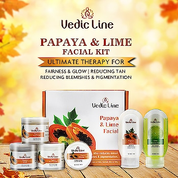 ****Papaya & Lime Facial Kit**** Get your hands on Vedicline's Papaya and Lime Facial Kit which is the ultimate therapy for fairness & glow. Buy now: 👇👇  http://www.vedicline.com/product/1753/papaya-@-lime-facial-(for-all-skin-type) > > > Benefits : • Enhances Skin Tone • Reduces tan, blemishes and pigmentation.  • Rejuvenates dull skin.  #Vedicline #PapayaFacial #PapayaAndLimeFacial #Facial #NaturalFacial #AyurvedicFacial #NoSideEffects #SkinMaster #AyurvedicTreatment #SkincareRegime #EssentialAyurveda #GlowingSkin #NaturalIngredients #AyurvedicProducts #CosmeticProducts #NaturalProduct #FacialTreatments #AyurvedicFacialTreatment #NaturalCare #Fairness #Glow #Tan #Pigmentation #Blemishes