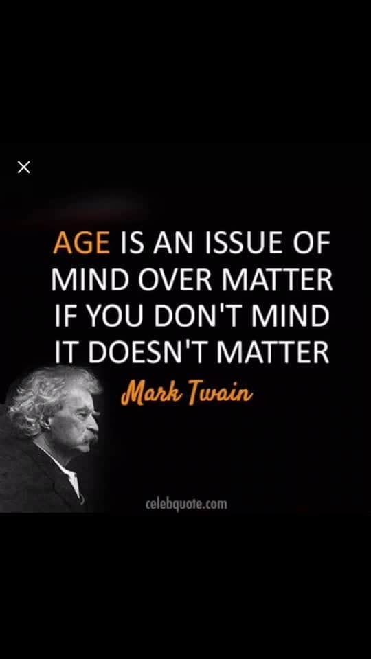 Age is just matter of mind.we always look beautiful and young ,at any old age .exercise ,smile ,maintain urself and love urself .look always a new born.😊😘😘😘😘😘😘