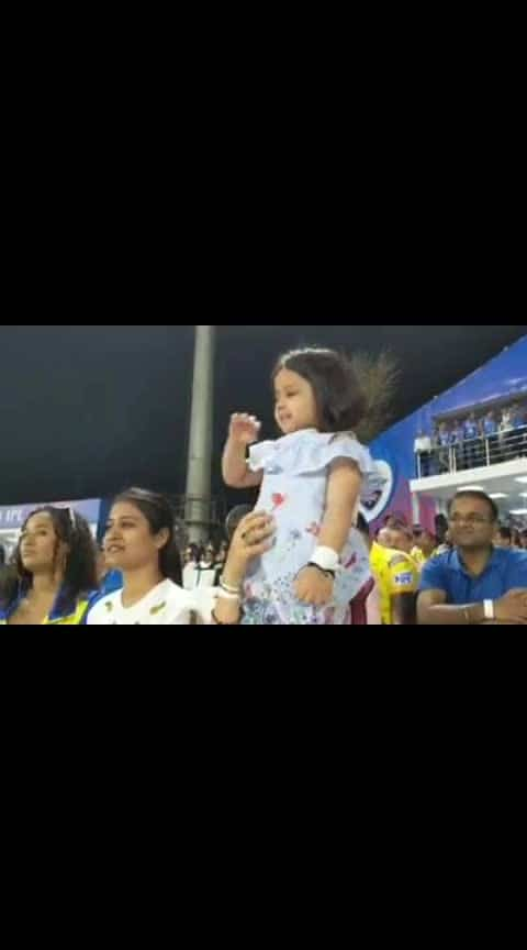 #zivadhoni cheering for her dad #msdhoni #ipl #csk