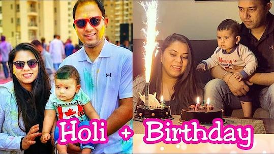 Vlog: My Rangeen Birthday | Holi Vlog | Birthday Vlogs |Naziablogs
