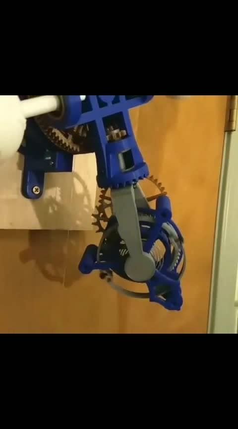 """Triaxial Tourbillon Clock by mcmaven 👏👏👏 . . Follow @sciencesetfree  Thingiverse Number : 3415296 Designer : mcmaven youtubechannel : McMaven . . Repost : Here are the parts that I used. You can use hex socket or Philips head screws, your choice. I used hex socket head cap screws for the balance wheel weights because they were heavy. I paid about $1 a piece for all the ball bearings on ebay or Amazon. Some of the """"2mm"""" and """"3mm"""" shafts that I've picked up on ebay or Amazon have been slightly oversized, just enough so the bearings won't fit on to them. Look for a slip fit of the shaft in the bearing. DON'T force the bearings on the shaft. I tried and jammed the bearings, making them useless. My solution was to order from another vendor. Maybe you will get lucky the first time. (the rest on thingiverse) . . . . . . . . . . . . . . . . . . . . . . . . . . .  #clocks #thingiverse #mechanicalengineering #electricalengineering #3dprints #printen #printing #3dprinters #3dprinted #3dprintable #3dprinterfilament #3dprinting #3dprinter #3dprint #ender3 #prusai3 #cr10 #extruder #filament #pla #petg #shareyour3dprints #engineering #3ddruck #3ddrucker #3dprint #ender3"""