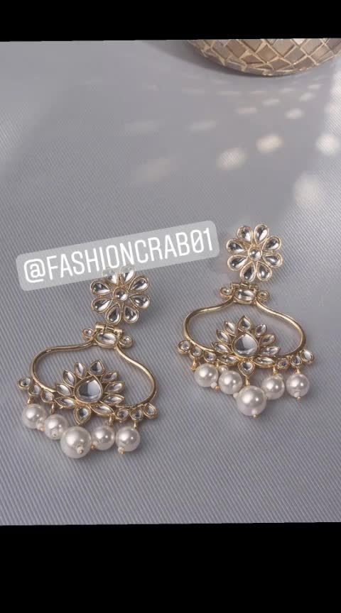 Buy Beautiful Earrings at Fashioncrab.🌷🌷 💕💕💕💕 #earrings #earringtrends #earringstagram #earringaddict #earringlove #earringsoftheday #fashionstore #woman-fashion #be-fashionable #gorgeous #goodthings #ropo-good #roposo #ropo-love #jewelsforlife #jewellerylove #bridal-jewellery  😍😍😍😍 Visit our website to order: www.fashioncrab.com