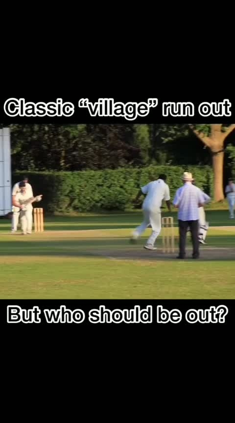 """More classic """"village"""" cricket action from SandersteadCCTV, this time a rubbish run out - but who should have been out? Any laws experts out there? #cricket #cricketvideos #runout #umpire #sandersteadcctv #villagecricket #sundaycricket  Link to channel in profile."""