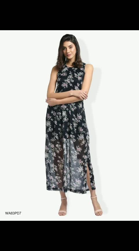 👉 *Name*: Floral Maxi Dress 🔥 *Brand*: Trend Arrest ✏️ *Description*: Fabric : Polyester  Sleeves : Sleeveless  Bust/Chest Size (Inches) : S-34, M-36, L-38, XL-40  Waist Size (Inches) : S-30, M-32, L-34, XL-36  Type : Stitched  Work/Pattern : Floral Printed  Description : Contains 1 Dress 😌 ✅ *Available Sizes*: S,M,L,XL ☺️ 🚚 *Delivery Time*: Delivers within 5 days  *%s - 100%% Return & Refund Policy *No COD charges  https://dreamjourney.wooplr.com/s/RHbr31WqY?ref=cp.p.i.ip.a.en