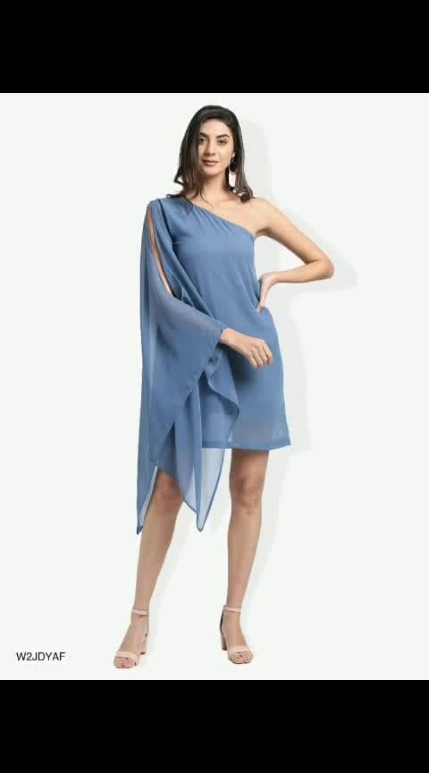 👉 *Name*: One Shoulder Dress 🔥 *Brand*: Trend Arrest ✏️ *Description*: Fabric : Polyester  Sleeves : Sleeves Are Included  Bust/Chest Size (Inches) : S-34, M-36, L-38, XL-40  Waist Size (Inches) : S-30, M-32, L-34, XL-36  Type : Stitched  Work/Pattern : Solid  Description : Contains 1 Dress 😌 ✅ *Available Sizes*: S,M,L,XL ☺️ 🚚 *Delivery Time*: Delivers within 5 days  *%s - 100%% Return & Refund Policy *No COD charges  https://dreamjourney.wooplr.com/s/FPXDiLeUm?ref=cp.p.i.ic.a.en