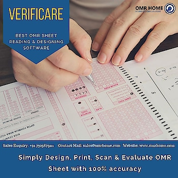 Hello Educators!  Verificare OMR software a product by OMR Home is your ultimate destination for all OMR related needs. Trusted worldwide by 2000+ clients, it has gained popularity in schools, colleges, universities, corporate and Government /PSUs. Its versatile features and customizable options is what make it a unique tech-enhanced product. Some of its most highlighted features are-   Create customized OMR sheets Use any normal flatbed scanner and printer  Scan 300 sheets in a minute Error detection & anti cheat AI  Reads all types of OMR sheets  This not all… Verificare OMR software is a repository of features and this is just the glimpse of it.  SALES ENQUIRY : +91 7303873111   EMAIL : sales@omrhome.com   www.omrhome.com  #Verificare #bestomrsoftware #omrsolution #omrsoftware #omrscanner