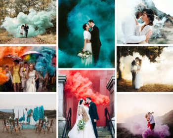 One of the most awe-inspiring and unexpected trends of the year has been the use of colored smoke bombs in photography. These beautiful pyrotechnics are popping up in wedding Shoots all around the globe, these totally safe grenades emit colored smoke and create breath-taking photos. And here at IndianWeddingCards, we are kind of obsessed.  #IndianweddingCards #Photography #SmokeBombs #SmokeShoots #weddingphotography