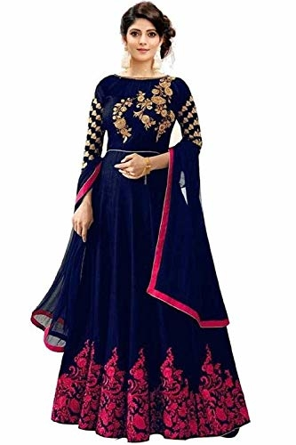 Pristive #Fashion Hub Women Embroidery Semi-Stiched #Patrywear #Anarkali #Gown @ Rs.799. Buy Now at http://bit.ly/2JQh37L