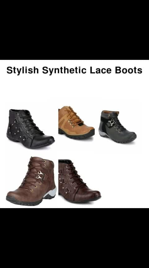 Stylish Synthetic Lace Boots - - #fashion #swag #style #stylish #photography #instapic #me #swagger #photooftheday #jacket #hair #pants #shirt #handsome #cool #polo #swagg #guy #boy #boys #man #model #tshirt #shoes #sneakers #styles #jeans #fresh #dope