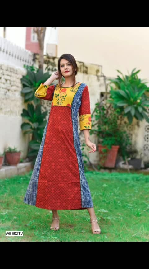 Pretty Long Kurti  Fabric : Variable (Check Product For Details)  Sleeves: Sleeves Are Included  Size : Bust : S - 36 in, M - 38 in, L - 40 in, XL - 43 in, XXL - 47 in, 3XL - 49 in         Length : Up to 46 in  Type :  Stitched  Description : It Has 1 Piece Of Kurti  Work : Printed/Plain with Patch Work  https://dreamjourney.wooplr.com/s/HN7SKuAD7?ref=cp.c.i.ic.a.en
