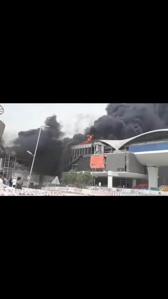 Fire accident in saudhiarabia , Riyadh #fire #firing #accidents