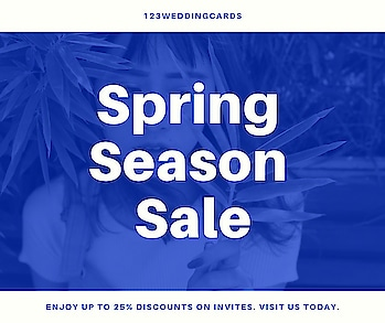 Are you engaged, this offer is for you Future Brides get 25% off on all wedding invitations. Apply Coupon code: PACK2  Get Here: https://www.123weddingcards.com/offers  #Offers #Discount #Sale #WeddingCards #WeddingInvitations #Coupon #SpringSale #SpringOffers #SpringSale2019 #spring