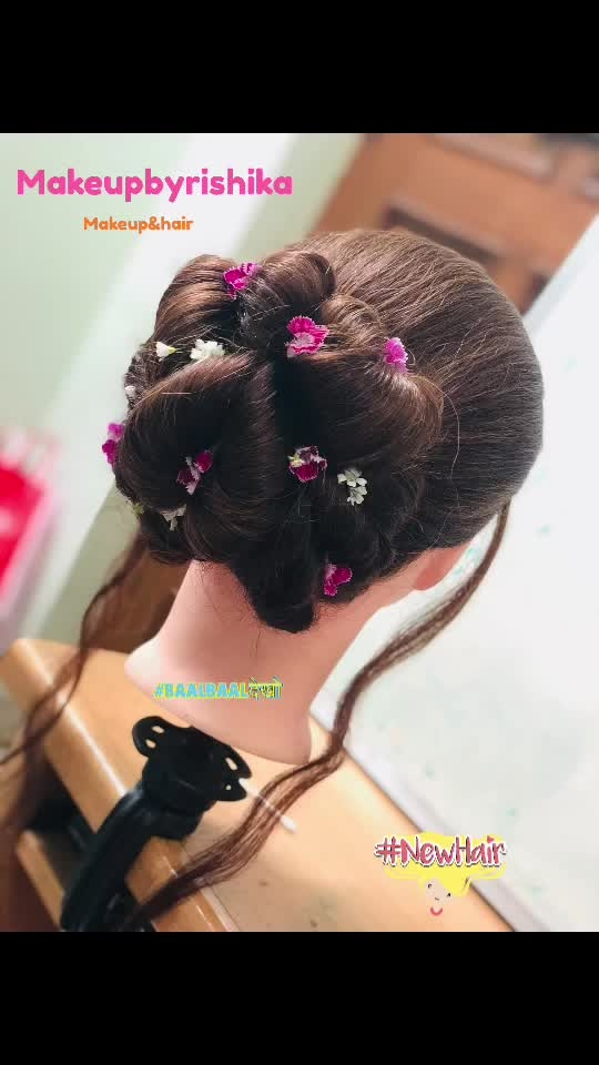 Hey guys . These are some spring inspired hairdos i created . You can follow me on instagram & FB @makeupbyrishika . For more makeup & hair  Do you guys like these hairdos .  Booking open for this wedding season april.   #makeupbyrishika #bridal-makeup #wow #celebrations #lookgoodfeelgood #rangoli #soroposo #hairdo #hairstyle #mua #makeupartistindia #muadelhincr #topnotch #beats #trending #roposostars #fashionquotient #roposotalks #foryou   Makeup Artist @makeupbyrishika #newhair #baalbaaldekho