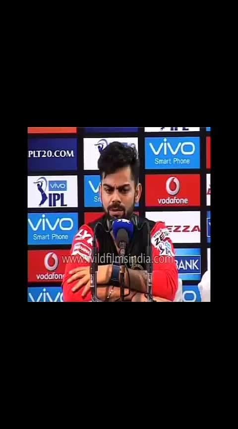#srhvsrcb  kohil emotional speech Telugu  #viratkohli