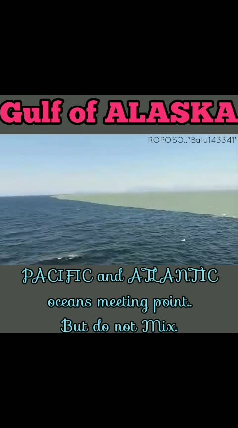 #Gulf of Alaska..#PACIFIC and ATLANTIC oceans Meeting point but not Mix...