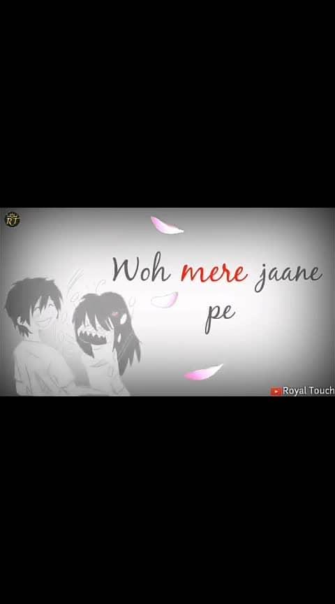 wo mere ane par #whatsapp-status #love-status-roposo-beats #wowchannels #ashiqi #filmistan-channel #roposo-channel #beatschannel #yourfeedchannel #roposo-trending #trend-alert #trendingchannel