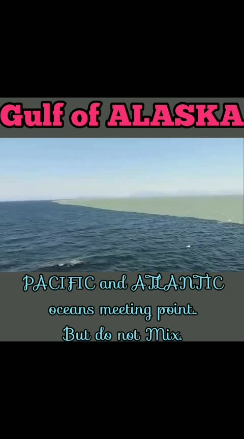 #Gulf of ALASKA... PACIFIC and ATLANTIC oceans Meeting point...But do not Mix..😮💯