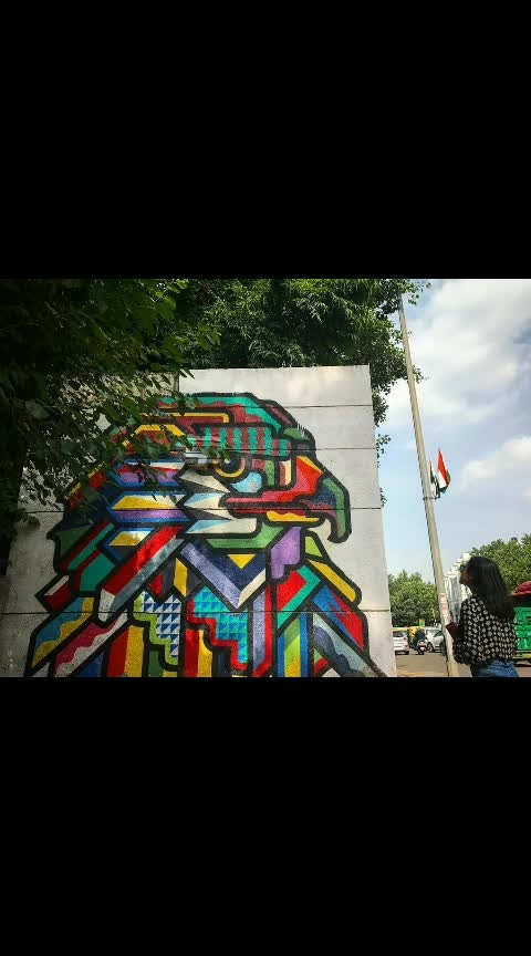 401 Ways to Explore #401Reasons Episode 10: Delhi...truly creative in every sense of the word. The book proved this fact while she strolled around the streets of Connaught Place and chanced upon the #graffiti of an eagle with all the #colours one could imagine. That eagle gave wings to her imagination as she dreamt of how her next stop was going to be...#WhenInAndaz #AndazDelhi #ropsostreet #roposo-pic #roposophotography #roposodelhi