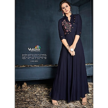 Look like a dream wearing this navy blue color embroidery work Maxi Dress Kurti. Exclusively designed, this kurta with regular fit will enhance your curves and will keep you comfortable.   Buy @http://bit.ly/2UswirL - COD Available - Free Shipping in India  #kurti #kurtionlineshopping #womenfashion #fashionblog #instalook #glamor #ethnicwear #ethnickuri #womenkurti #fashionblog #blogger #glamorousselfie