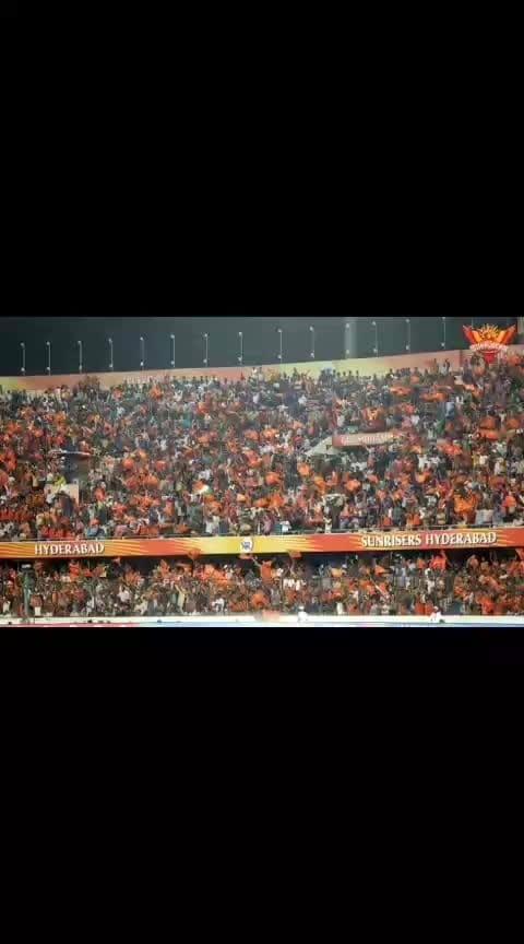 #orangearmy  #cheering for sunrisers hyderabad - srh #orange_army  sunrisers hyderabad vs gujarat loins   biryani