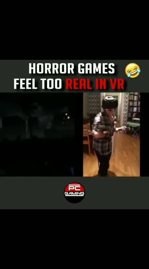 VR too Horror😂😂  #horror #pcgaming #pcgamer #vr #virtualreality #gamer #game #roposo #video #lol #fun #feel #thriller #viral