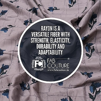 #Rayon is a versatile fabric with strength, elasticity, durability and adaptability.  For shopping visit us : www.fabcouture.in  #FabCouture! #DesignerFabric #AffordablePrices #DesignerDresses #Fabric #Fashion #DesignerWear #ModernWomen #DesiLook #Embroidered #WeddingFashion #EthnicAttire #WesternLook #affordablefashion #GreatDesignsStartwithGreatFabrics #LightnBrightColors #StandApartfromtheCrowd #EmbroideredFabrics