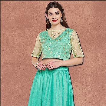Dazzle with mesmerising elegance by wearing this net top. This top features a floral sequins embroidered body with a V-neck underlayer of kota zari giving it a sheer neck element.  https://9rasa.com/collections/sr-tops-tunics  #9rasa #colors #studiorasa #ethnicwear #ethniclook #fusionfashion #online #fashion #like #comment #share #followus #like4like #likeforcomment #like4comment #newarrivals #ss19collection #ss19 #top #net #embroidered #sheer #kotazari