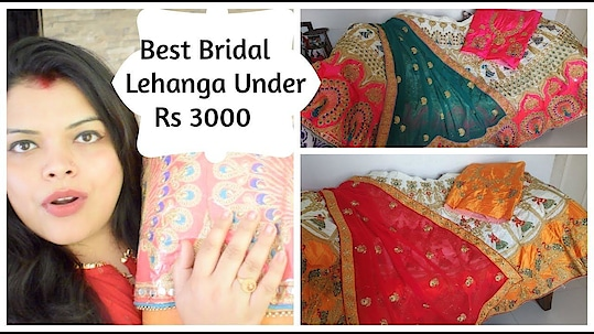 Best Bridal Lehanga Under Rs 3000 - Silk Jomso Lehanga