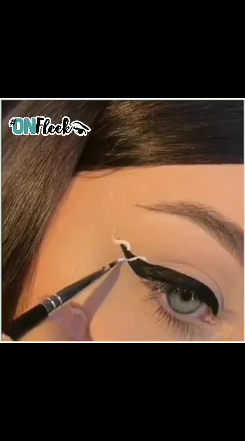 #liner on fleek👀🖤   #eye-makeup #ropomakeup
