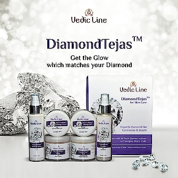 *****#DiamondTejasFacial*****  ~ Get the Kind of Glow on your faces to Match your Diamond. 🤗  Check out our Diamond Tejas Facial for dazzle white glow on the face. Buy Now: 👇👇 http://www.vedicline.com/product/1759/diamond-tejas-facial-(for-all-skin-type)  💟Benefits💟 :  🥀 Controls the premature aging effects. 🥀 Protects Skin From Dehydration at Epidermis. 🥀 Provides dazzle white glow on the face. 🥀 Enriched with Hi Teck Dermo Actives to Energize  Skin's Cells.  #Vedicline #SkinMaster #AyurvedicProducts #NaturalCare #CosmeticProducts #BeautyProducts #NaturalIngredients #DiamondTejasFacialKit #DiamondFacial #FacialKit #MustHaves #SkinCare #BeautyCare #PersonalCare #FacialTreatment #NaturalSkinCare #CosmeticProduct #MadeinIndia #HealthySkin #Hearbal #Organic #Cosmetic #BeautyAddict