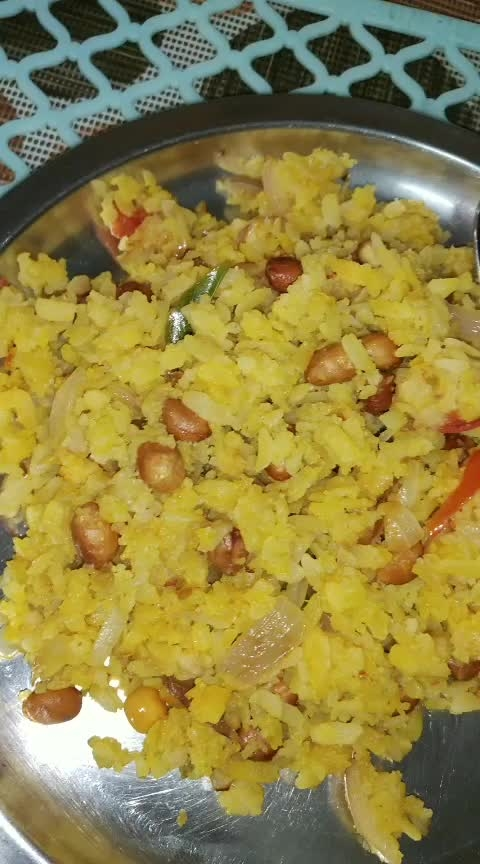Maharashtrian Poha ❤ #hungryalways #hungrytv #hungryme #roposo-food #foodphotography #roposo-channel #ropostar #roposostarchannel