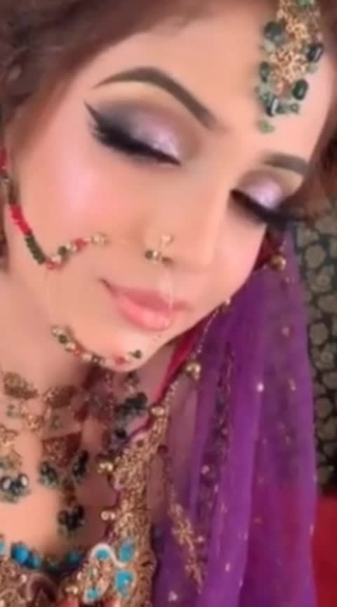#wedding-bride #weddingseason #roposo-dulhan #photoshootdiaries #ropo-cosmetics #roponess #wowtv #indianbridalmakeup #featurethisvideo #ropo-awsome