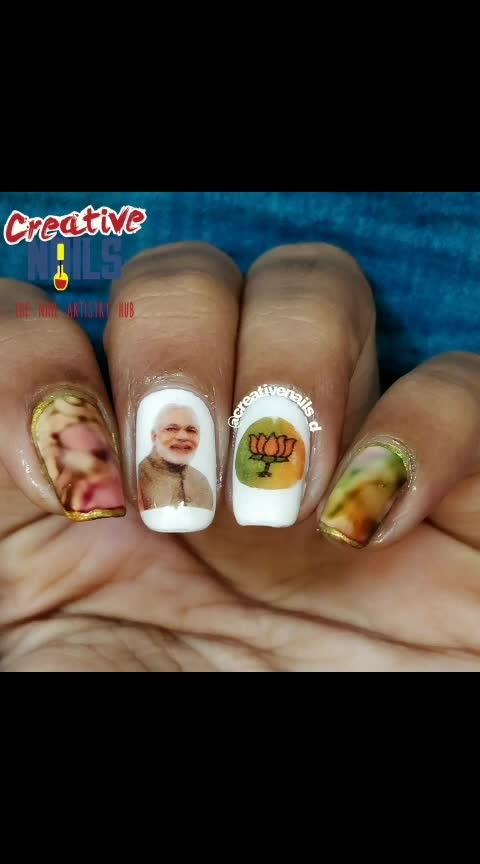 #phirekbaarmodisarkar #roposolove #be-fashionable #nail-addict  #creativenails_d #creativenails_beautyproducts #pm-modi #namo #indiannailartist