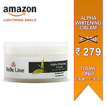 Limited time - Limited quantity SALE💃👯♀️👜  Lightning Deal is live now. Buy Vedicline's Alpha whitening cream on Amazon at a slashed price never before. Offer valid till 11:00 pm tonight.  Grab the deal now: 👇👇 http://bit.ly/alphawhiteningcream  > > >  #sale #amazon #offer #limitedoffers #beauty #natural #ayurveda #ayurvedicproducts #AlphaWhiteningCream #DealOfTheDay #BestdealOnline #india #PostOfTheDay #Cream #NaturalCream #Organic #Vegan #ParabenFree #NaturalProducts #AmazonOnlineShopping #Discount