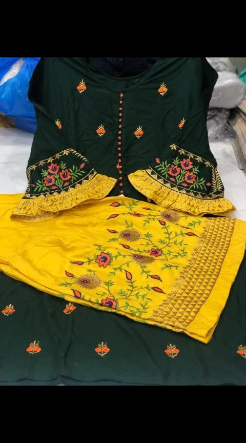 🧚♂🧚♂🧚♂🧚♂Now PRESENTS   Pure RYON OUTFITS  🎊NAME- *#DIVINE vol 6*  🎊Material Details  🎊Top- PURE RYON COTTON               FULL STICH WITH FULL WORK WITH STYLISH SLEEVES                SIZE- L & Xxl               Length- 40+   🎊PLAZO- PURE RYON SARARA                     FULL STICH                     WITH WORK                     WITH LACE  PRICE- *975 *+Shiping cost Extra            Book ur order now !