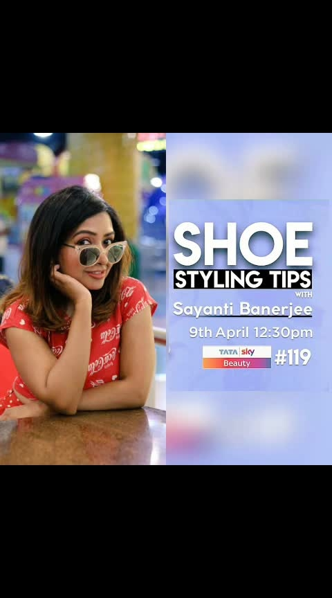 👓 Up for a #trendy Tuesda¥ ? Do watch my #show...  Today 🎬12.30pm & repeats all day...  @tataskyofficial  #tataskybeauty 119  #summer  #summerfashion  #fashion  #styles  #cocacola  #tvshowhost #tatasky  #mumbaifashionblogger  #hot  #beauty  #beautyblogger #ootd  #sneakers  #sunglasses  #trendeing  #trending #rooftop #sun #fun #instadaily  #instagirl #wow #sayanti #sayantibanerjee