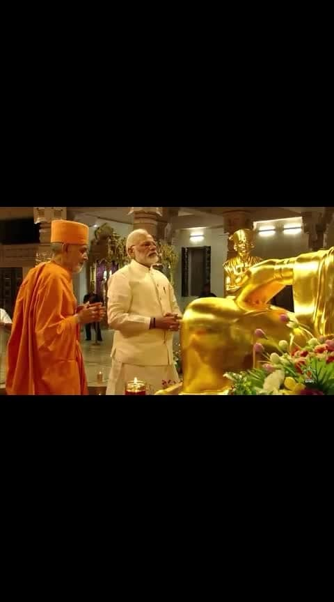 #narendramodiji at swaminarayan temple