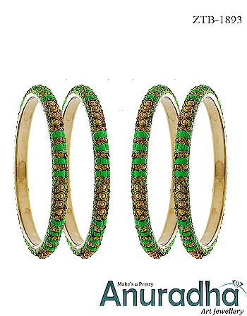 Upgrade your jewellery collection by adding this set of four bangles from the house of Anuradha Art Jewellery. Get more designs on this link: https://bit.ly/2JF4kzp #bangles  #goldenbangles  #newbangles  #onlinebangles  #banglescollection  #jewelry  #jewellery  #fashion  #womensjewellery  #womensfashion  #diamondangles  #americandiamondbangles